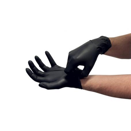 Gant nitrile noir non poudré