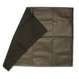 Serviette plastifiée noire 45x33 boîte de 500