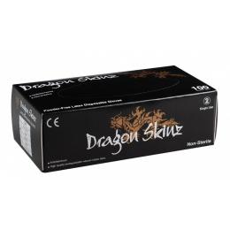 Gant Latex Noir Non poudré Dragon SkinZ